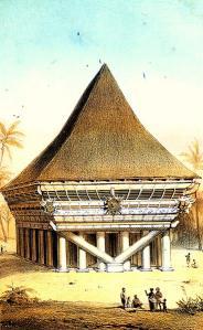 Arsitektur Vernakuler Nias dengan Sistem Konstruksi V
