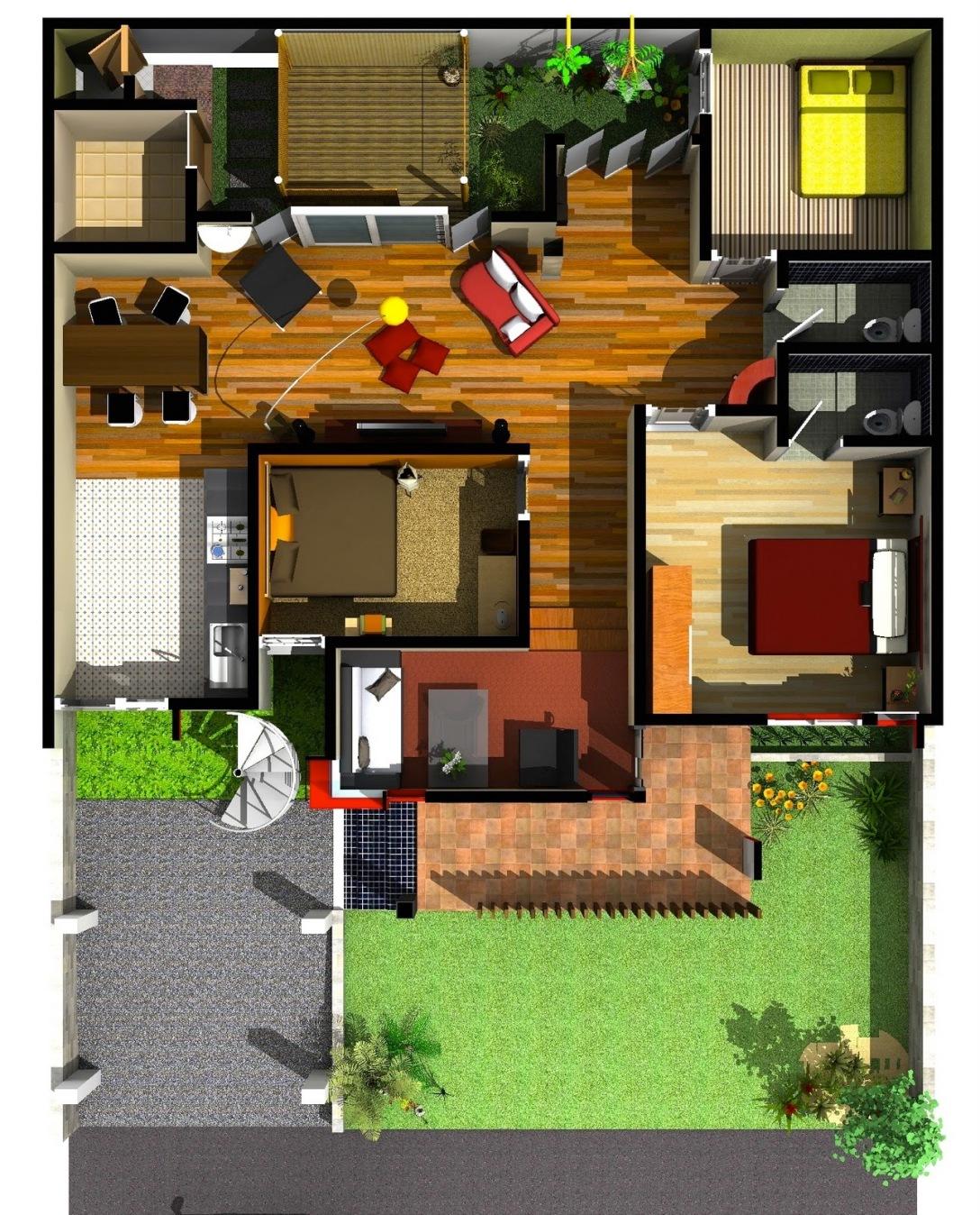 Denah Desain Rumah Minimalis Arsitek Medan
