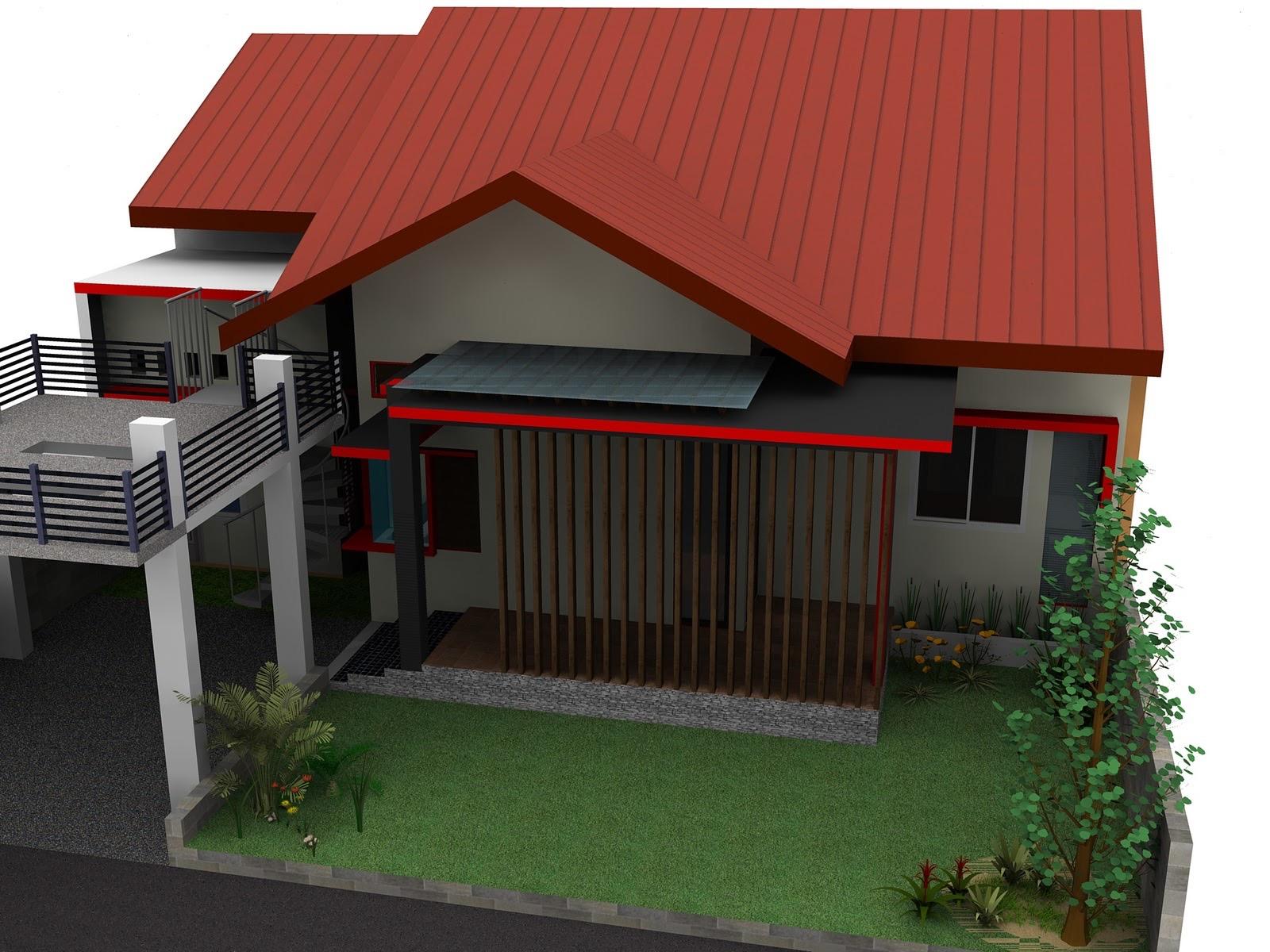 Desain Rumah Minimalis Bapak Mahmud Arsitek Medan RAFT Origin